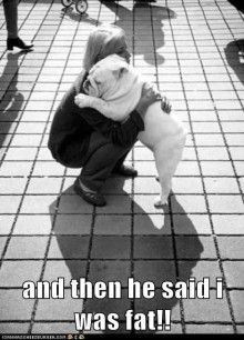 and then he said I was fat! Awwwwwwwww! Poor fella