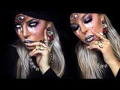 FORTUNE TELLER Halloween Makeup Tutorial - YouTube