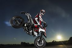 Nicky Hayden on the new Hypermotard