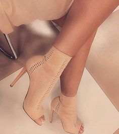 Nude Booties and Boots - Shop Now More
