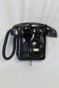 Juegos, juguetes y artículos antiguos- Teléfono de pared