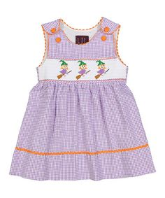 Look at this #zulilyfind! Lavender Gingham Witch A-Line Dress - Infant, Toddler…