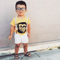 FRIDAY STYLE ✖️ This little guy is ready to PARTY ✖️ Monkey vibes with @____l8ve____ thanks for sharing!!!  #miniandmaximus