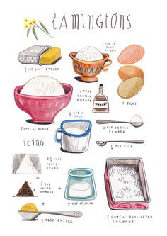 Just love the illustrations | in the kitchen with felicita sala's lamingtons | Design*Sponge