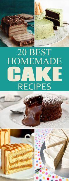 20 Best Homemade Cake Recipes
