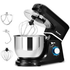 For Home 6 Speed Qt Tilt-Head Stainless Steel Electric Food Stand Mixer Tidy Kitchen, Kitchen Mixer, Kitchen Appliances, Kitchen Small, Small Appliances, Kitchen Tips, Food Mixers & Blenders, Kitchen Aid Mixer Attachments, Noodle Maker