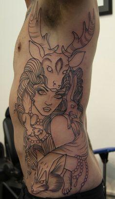 fox/rabbit/squirrel/deer/gypsy tattoo