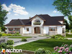 Projekt domu Rezydencja w persymonach 2 - ARCHON+ Flat House Design, Ranch Remodel, Luxury Homes Dream Houses, Modern House Plans, Home Fashion, My Dream Home, Interior And Exterior, My House, House Styles