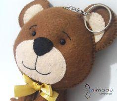 Chaveiro/Pingente de Bolsa Urso 10cm