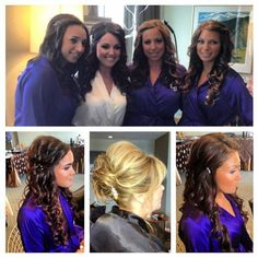 Beautiful bridal party by Axle Color Studio! Hair by Lauren Morris and Shannon Walsh. Makeup by Alice Upton.