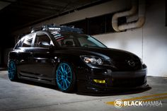 "Black on blue. im gonna call it sex appeal"" mod Mazda 3 Sedan, Mazda 3 Hatchback, Luxury Car Rental, Luxury Cars, Mazda Mps, Mazda 3 Speed, Party Bus Rental, Super Images, Car Mods"