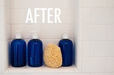 Beautify your shower supplies.   27 Home Decor Hacks Every Twentysomething Should Know