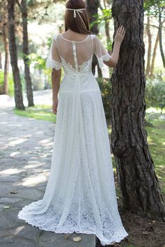 Hey, I found this really awesome Etsy listing at https://www.etsy.com/listing/118666271/boho-long-wedding-dress-ivory-lace
