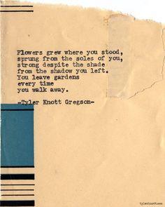 Typewriter Series #656 byTyler Knott Gregson