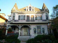 Victorian Style Houses Facade