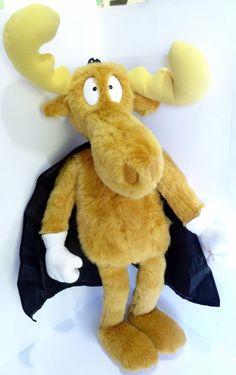 "18"" Plush Cape BULLWINKLE Moose Stuffed Toy Adventures of Rocky & Bullwinkl #AdventuresofRockyBullwinkleFriends"