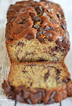 Let's be honest: Just looking at this chocolate peanut butter banana bread is making our mouths water.