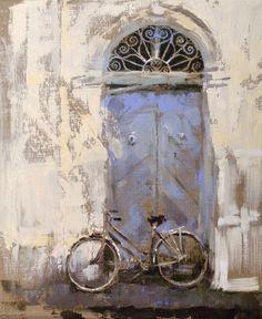 """Saatchi Art Artist: Fernanda Cataldo; Oil 2012 Painting """"blue door"""""""
