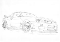 nissan gtr nismo coloring pages | car drawings outline - Google Search | Cars | Gtr drawing ...