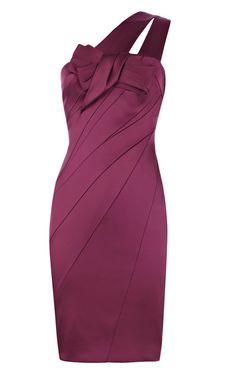 97e584c8e05d Karen Millen Signature Stretch Satin Dress Purple Purple Satin