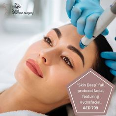 """Skin Deep"" full protocol facial featuring Hydrafacial   #DubaiCosmeticSurgery #HydrafacialTreatmentDubai #HydrafacialOffer #ThisMonthOffer #BeautyOffer #BestDiscountOffers Facial Treatment, Skin Treatments, Laser Skin Care, Hydra Facial, Facial Rejuvenation, Remove Acne, Skin Problems, Whitening, Cleanses"