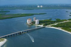 Lovers Key Resort and Estero Bay from the air