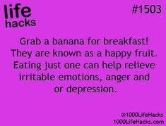 Banana happy fruit  relieves depression anger Irritability