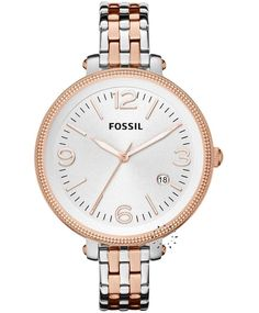 FOSSIL Two Tone Stainless Steel Bracelet, 129€ http://www.oroloi.gr/product_info.php?products_id=33596