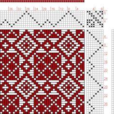 Hand Weaving Draft: Threading Draft from Divisional Profile, Tieup: Master Weaver, Draft #61297, Threading: Weber Kunst und Bild Buch, Marx Ziegler, (1677) # 13, Treadling: Weber Kunst und Bild Buch, Marx Ziegler, (1677) # 13, 8S, 8T - Handweaving.net Hand Weaving and Draft Archive