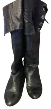 Chinese Laundry Trust Me Over The Knee Boot Black ~ Cool style, but sadly NOT leather