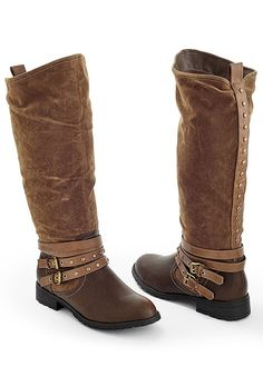 Brown Buckle Two Tone Boot from VENUS women's swimwear and sexy clothing.  Order Brown Buckle Two Tone Boot for women from the online catalog or