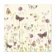 Birthday Card - Country Diary Of An Edwardian Lady - Butterflies - Flittered Finish: Amazon.co.uk: Office Products