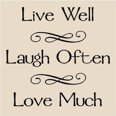Live Well Laugh Often Love Much T22 Vinyl Lettering Decal Tile Quote via Etsy