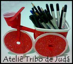 Ateliê Tribo de Judá: Reciclagem - bicicleta com pote de margarina ...