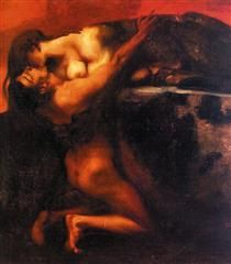 The Kiss of the Sphinx - Franz Stuck