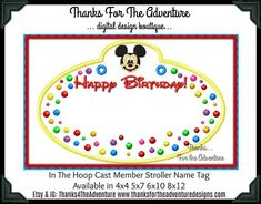 Stroller Tag Personalized {DIGITAL DOWNLOAD} Custom Pirate Mickey Tag for your stroller