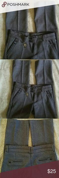 Aura Short Rise Pants Sz 27 Brown..Waist 14in. Inseam 28in. Length 35.5in. Pants
