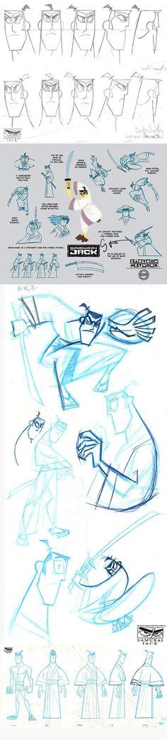 Samurai Jack.   http://www.traditionalanimation.com/samurai-jack-model-sheets/