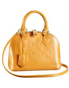Mustard yellow. Louis Vuitton.