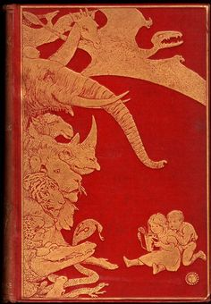 Andrew Lang, ed., The Red Book of Animal Stories, London: Longmans, Green, and Co. , 1899. Cover and illustrations by H. J. Ford.