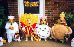Fast food halloween dogs