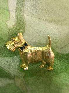 Scottie dog brooch  Dog brooch Scarf pin by TombigeeRiverVintage