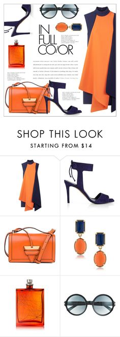 """""""orange & blue"""" by dotty-28 ❤ liked on Polyvore featuring Victoria, Victoria Beckham, Whistles, Loewe, 1st & Gorgeous by Carolee, The Beautiful Mind Series, Tom Ford, stylish and orangeandblue"""