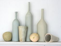 Still life with bottles and fruit by HouseOfCeramics on Etsy, $465.00
