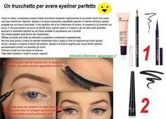 Un piccolo aiuto!!! I prodotti usati sono: primer occhi matita 3 in 1nera o eyeliner a penna eyeliner con pennello nero