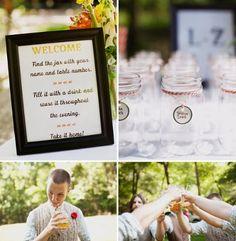 Creative ways to serve soda? Mason Jar favor/glass