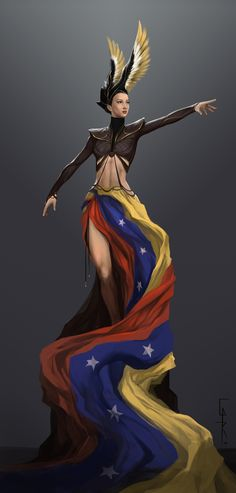 Venezuela, Illustration, Digital Painting