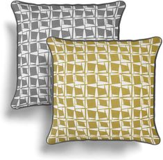 Capella Yellow and Grey Cushion Cover 43cm