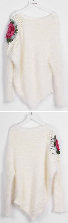 Slip into this beautiful dream with $24.99 Only! This mohair crochet piece is detailed with irregular hem&flower knitted at shoulder. So romantic to get at Cupshe.com