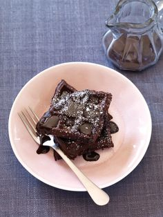 Double Chocolate Waffles Recipe   Vegetarian Times